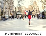 barcelona  la rambla shopping...   Shutterstock . vector #182000273