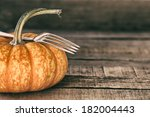 Closeup Of One Mini Pumpkin...