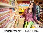 pretty young latin brunette...   Shutterstock . vector #182011403
