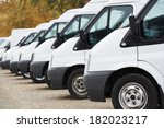 commercial delivery vans in row ... | Shutterstock . vector #182023217