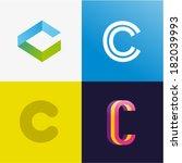 letter c | Shutterstock .eps vector #182039993