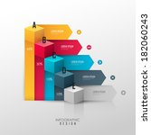 vector template for infographic ... | Shutterstock .eps vector #182060243