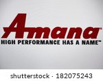 "Small photo of JANUARY 27, 2014 - BERLIN: the logo of the brand ""Amana""."