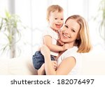 happy family. mother and baby...   Shutterstock . vector #182076497