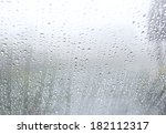 drops of rain on the inclined... | Shutterstock . vector #182112317