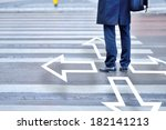 decisions. you have to choose. | Shutterstock . vector #182141213