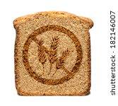 bread slice marked with gluten... | Shutterstock . vector #182146007