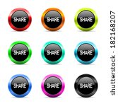 web buttons set on white... | Shutterstock . vector #182168207