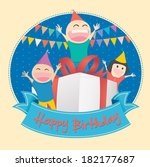 vector illustration of kids... | Shutterstock .eps vector #182177687