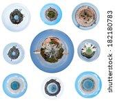 Set Of Spherical Views Of...