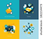 set of flat design concept... | Shutterstock .eps vector #182214473