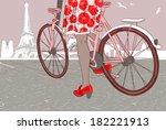 riding a bike | Shutterstock .eps vector #182221913