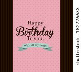 happy birthday  design over... | Shutterstock .eps vector #182226683