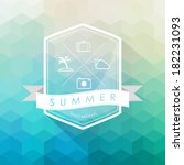 summer label on polygon... | Shutterstock .eps vector #182231093