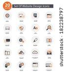 20 set of web design icons...