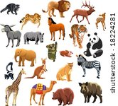 set of animals | Shutterstock .eps vector #18224281