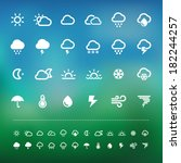 weather icon set .illustration...