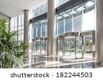 empty hall in the modern office ... | Shutterstock . vector #182244503