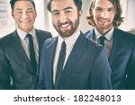 portrait of a cheerful beaded... | Shutterstock . vector #182248013
