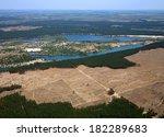deforestation.  aerial view . | Shutterstock . vector #182289683