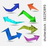 abstract modern polygonal... | Shutterstock .eps vector #182292893