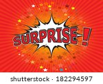 surprise     comic speech ... | Shutterstock .eps vector #182294597