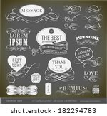 calligraphic design elements | Shutterstock .eps vector #182294783