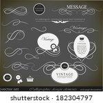 calligraphic design elements | Shutterstock .eps vector #182304797