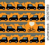 label or poster with bicycle... | Shutterstock .eps vector #182307083