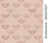 vintage ornate bohemian...   Shutterstock .eps vector #182321267