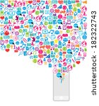 template design phone idea with ... | Shutterstock .eps vector #182322743