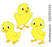 cartoon chickens. isolated... | Shutterstock .eps vector #182331413