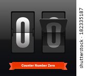 Flip counter template for zero digit. Highly editable EPS10 interface elements.
