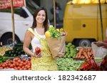 happy women consumer at an open ... | Shutterstock . vector #182342687