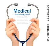 medical background with hands... | Shutterstock .eps vector #182361803