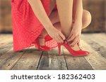 floor and legs  | Shutterstock . vector #182362403
