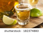 tequila in shot glasses with... | Shutterstock . vector #182374883