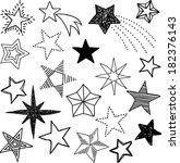 set of stars | Shutterstock .eps vector #182376143