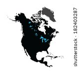 north america vector map... | Shutterstock .eps vector #182403287