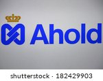 "Small photo of JANUARY 27, 2014 - BERLIN: the logo of the brand ""Ahold."