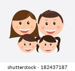 family design over gray... | Shutterstock .eps vector #182437187