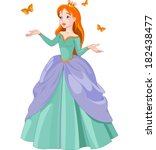 illustration of princess with... | Shutterstock .eps vector #182438477