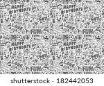 seamless doodle birthday party...   Shutterstock .eps vector #182442053