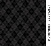 black argyle plaid pattern. | Shutterstock .eps vector #182442677