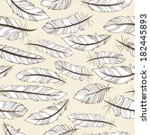 vintage seamless pattern with... | Shutterstock .eps vector #182445893