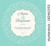 wedding invitation template.... | Shutterstock .eps vector #182461553
