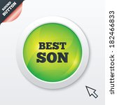best son sign icon. award...