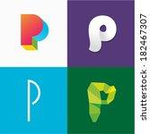 letter p | Shutterstock .eps vector #182467307
