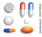 pills isolated on white... | Shutterstock .eps vector #182478563