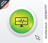 cardiogram monitoring sign icon....
